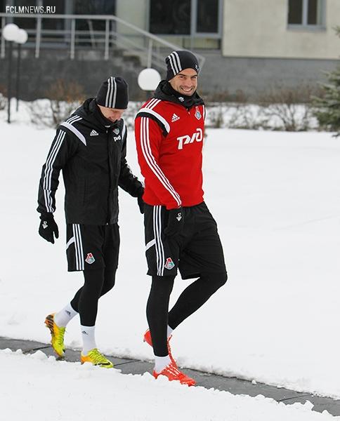 Тренировка перед дерби с «Динамо»