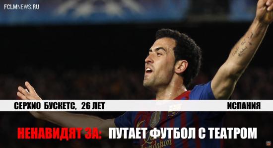 Топ-10 самых ненавидимых футболистов мира