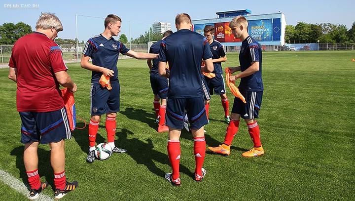 Тренировка перед Францией