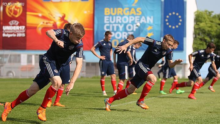 Тренировка накануне матча с Шотландией