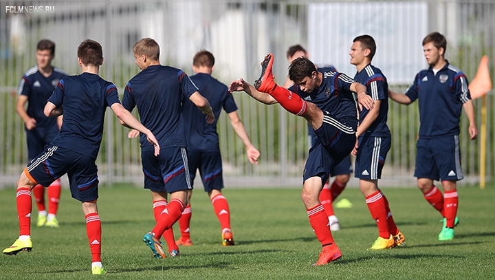Тренировка перед матчем с Германией