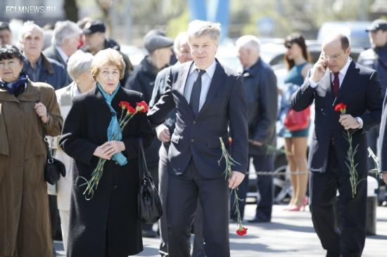 Ветераны футбола почтили память павших