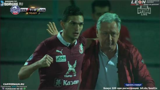 Гол Оздоева принес «Рубину» победу над «Кубанью»