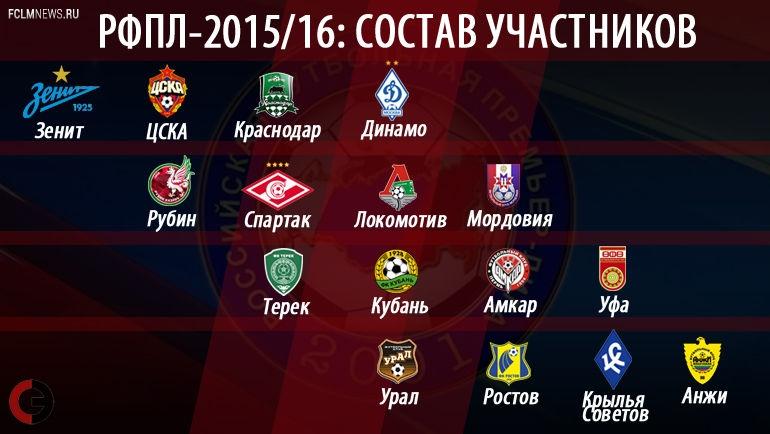 """РФПЛ-2015/16: от """"Зенита"""" до """"Анжи"""""""