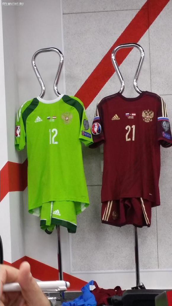 Сборная России выйдет на поле в матче против команды Австрии в бордовых цветах