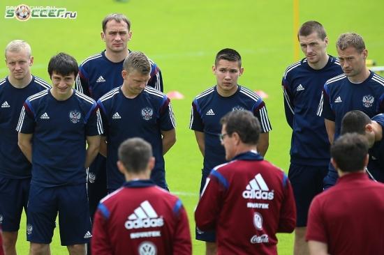 Тренировка сборной России (05.06.2015)