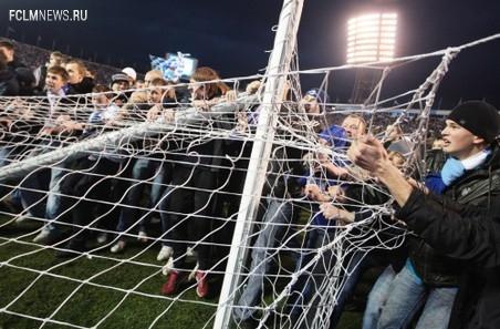 Болельщикам разрешат забрать на сувениры сетку ворот после матча за Суперкубок России