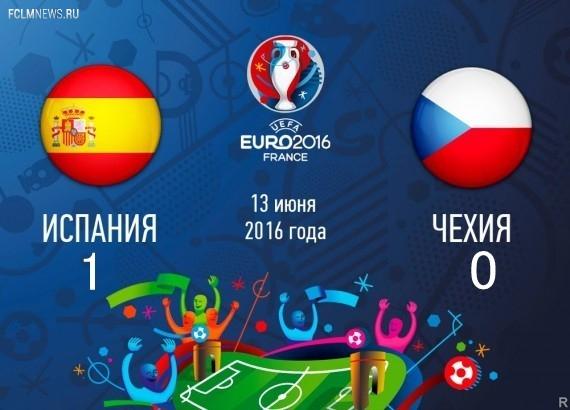 Евро-2016.  Испания  обыграла Чехию