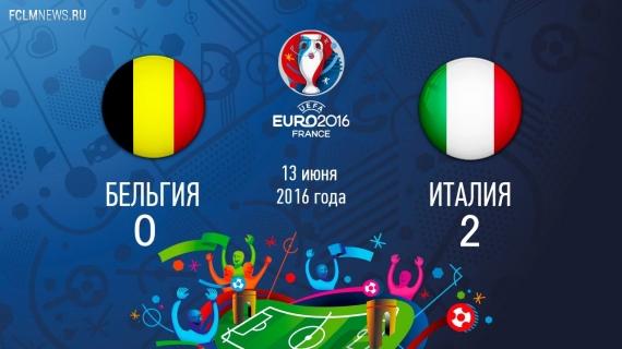 Евро-2016.  Италия обыграла Бельгию