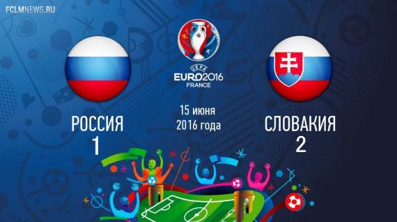 Евро-2016. Россия проиграла Словакии