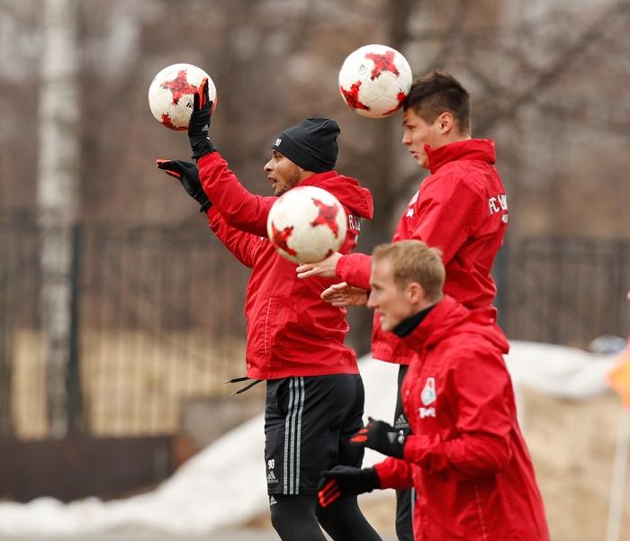 «Локомотив» провел тренировку в Черкизове