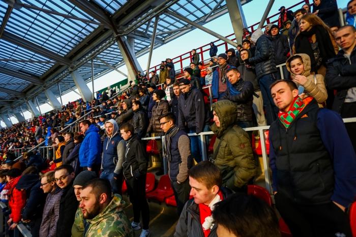 Школьный и студенческий секторы на матче со «Спартаком»