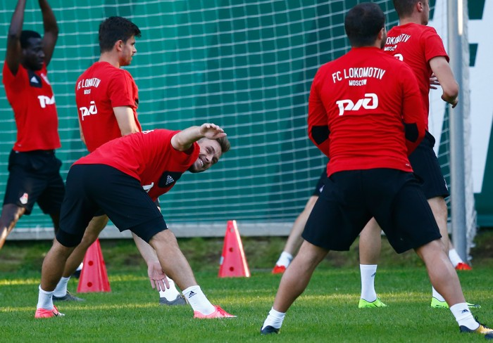 Тренировка перед матчем со СКА-Хабаровск