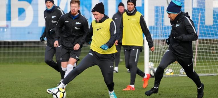 «Зенит» тренируется в полном составе в преддверии матча с «Локомотивом»
