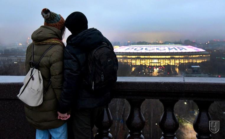 Российские фанаты радуются голу Аргентины и делают ошибки в баннерах. Фотообзор